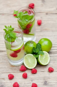 Raspberry Lime Water