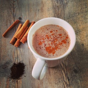 Fall-Spiced Warm Chocolate Milk