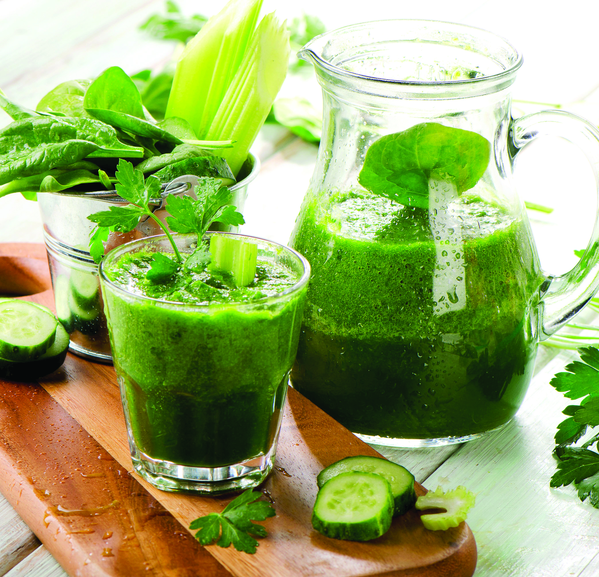 The Green Cowgirl (Cancer-kickin' Green Juice recipe)
